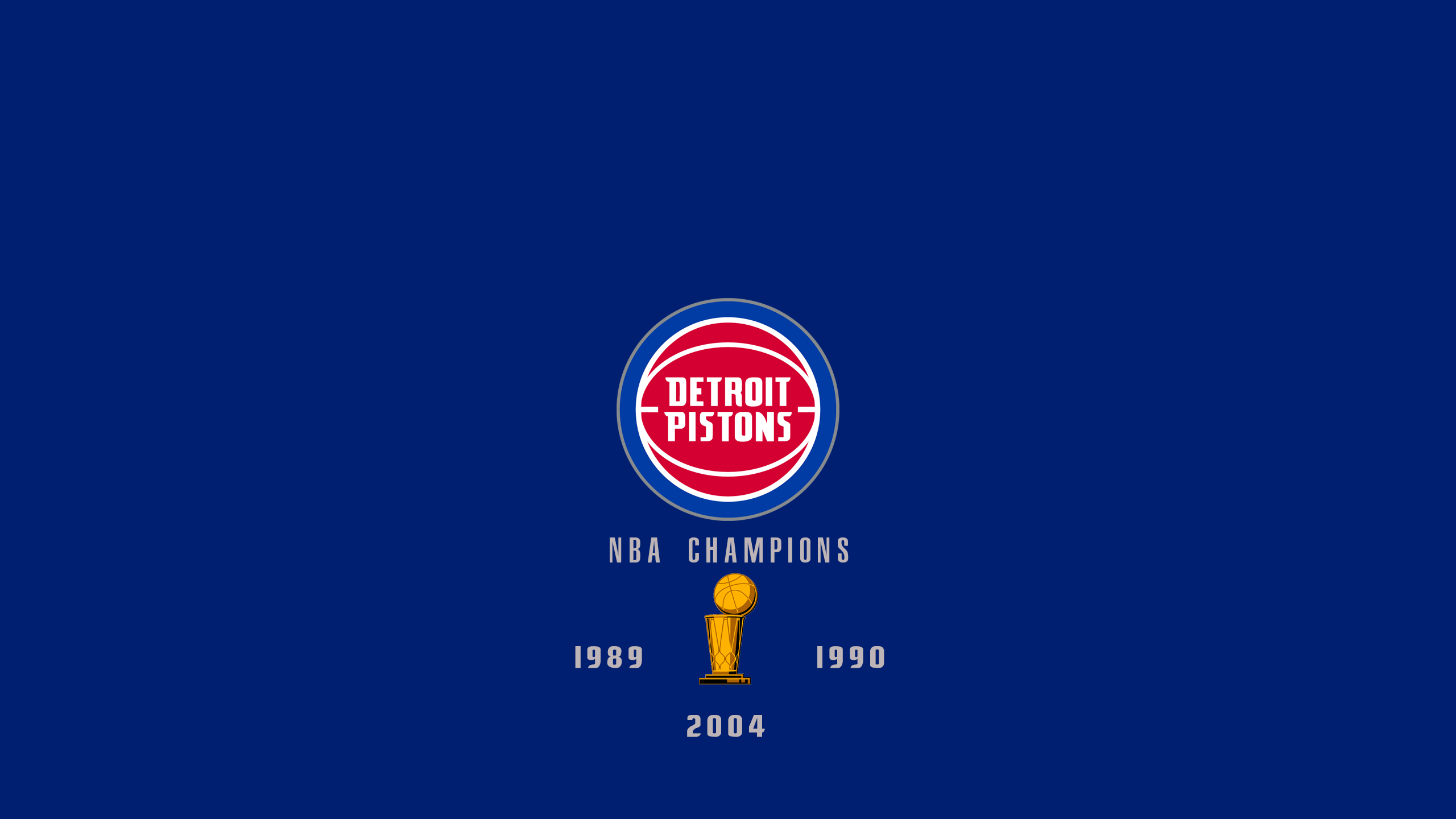 Detroit Pistons - NBA Champs