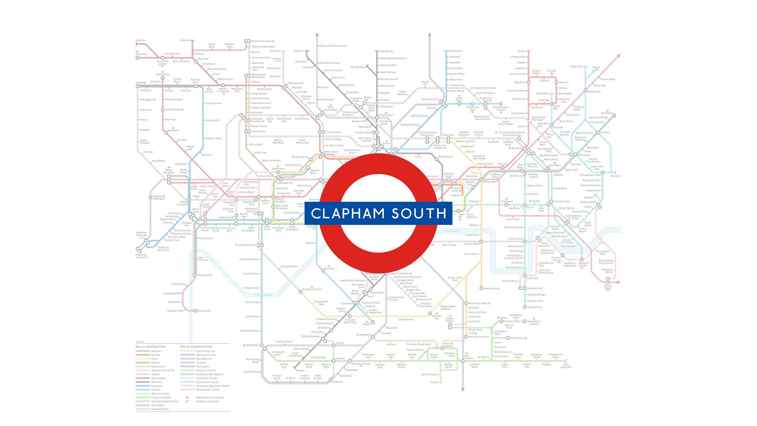 Clapham South (Map)