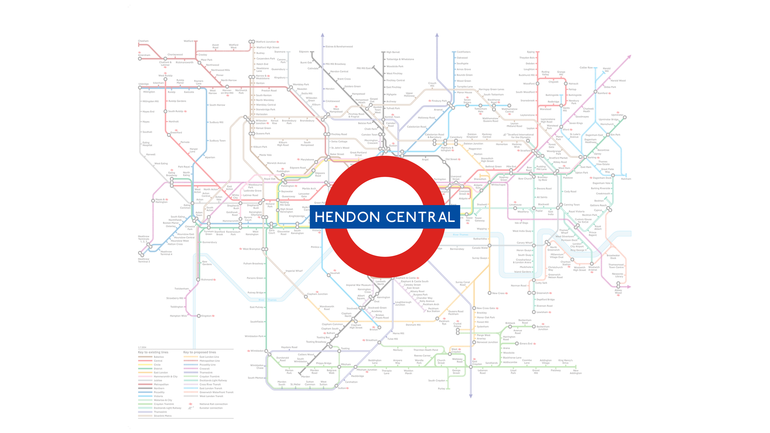 Hendon Central (Map)