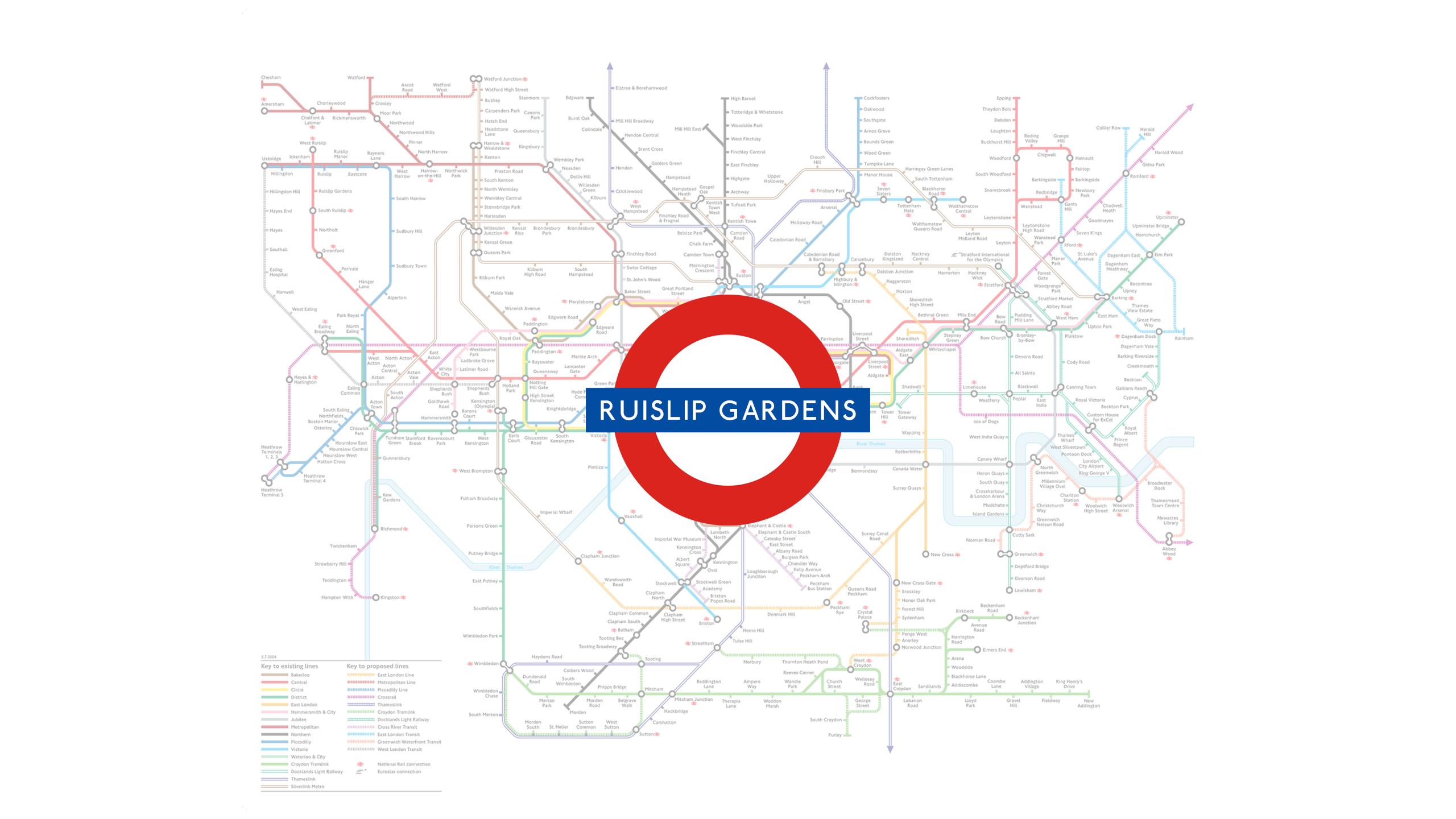Ruislip Gardens (Map)