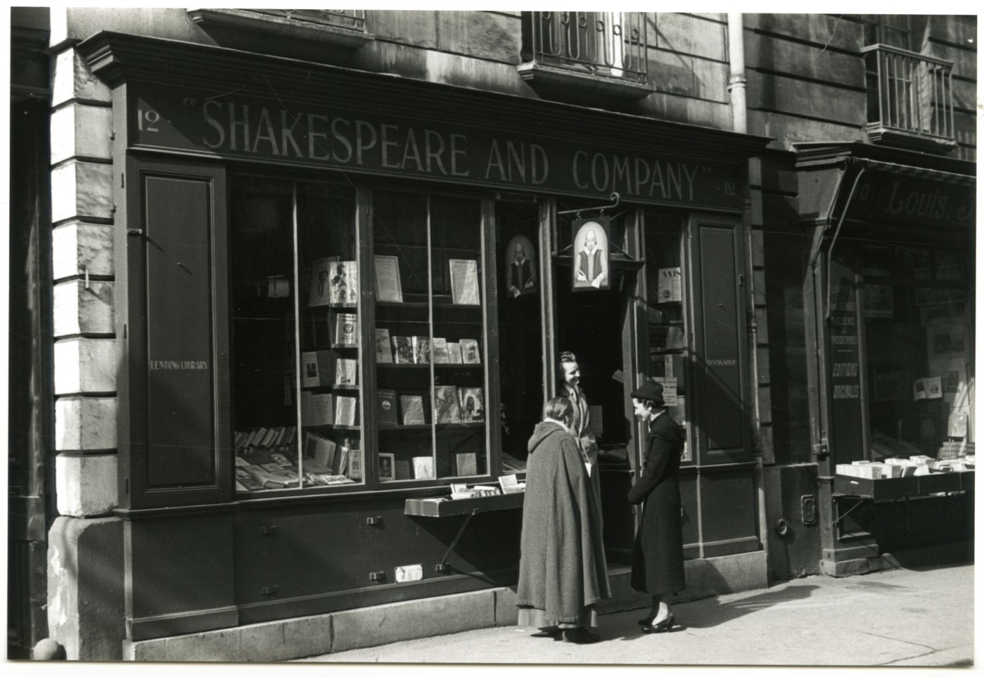 Sylvia Beach and Shakespeare and Co Paris 1936