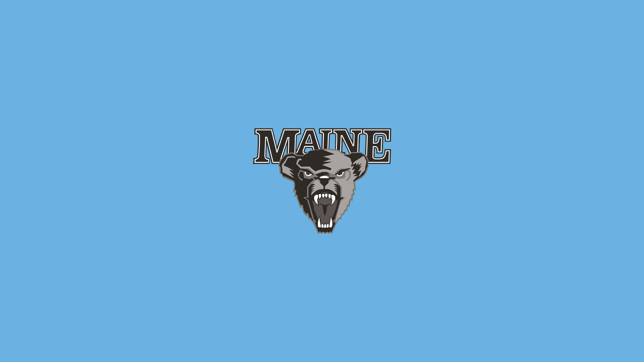 University of Maine Black Bears (Greyscale)