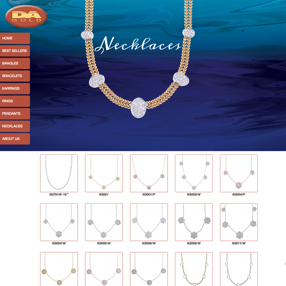 DA Gold - Necklaces Section Page