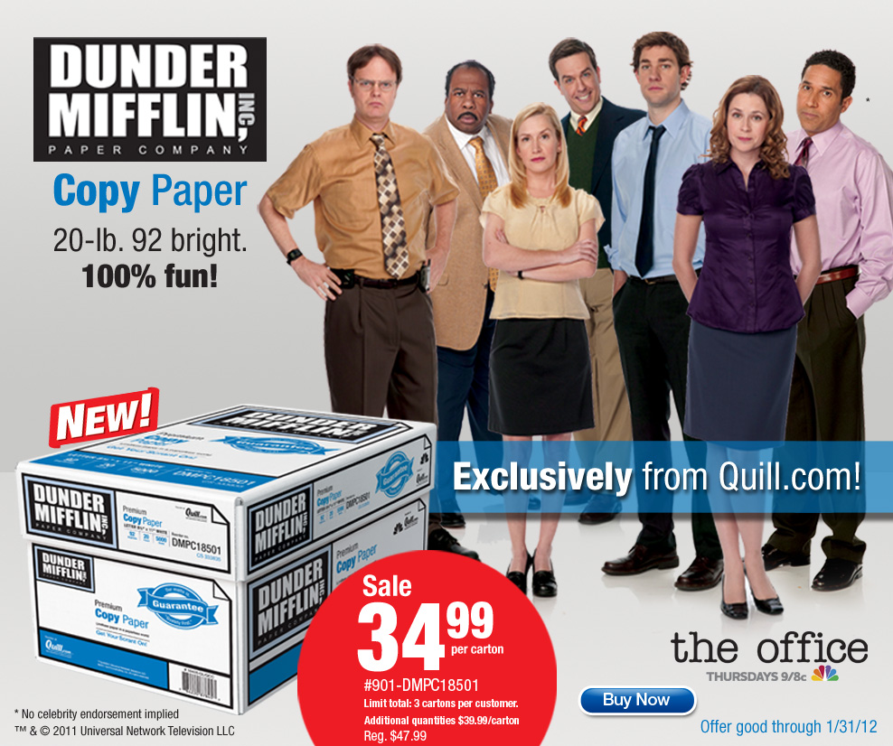 Dunder Mifflin Has Sold Out