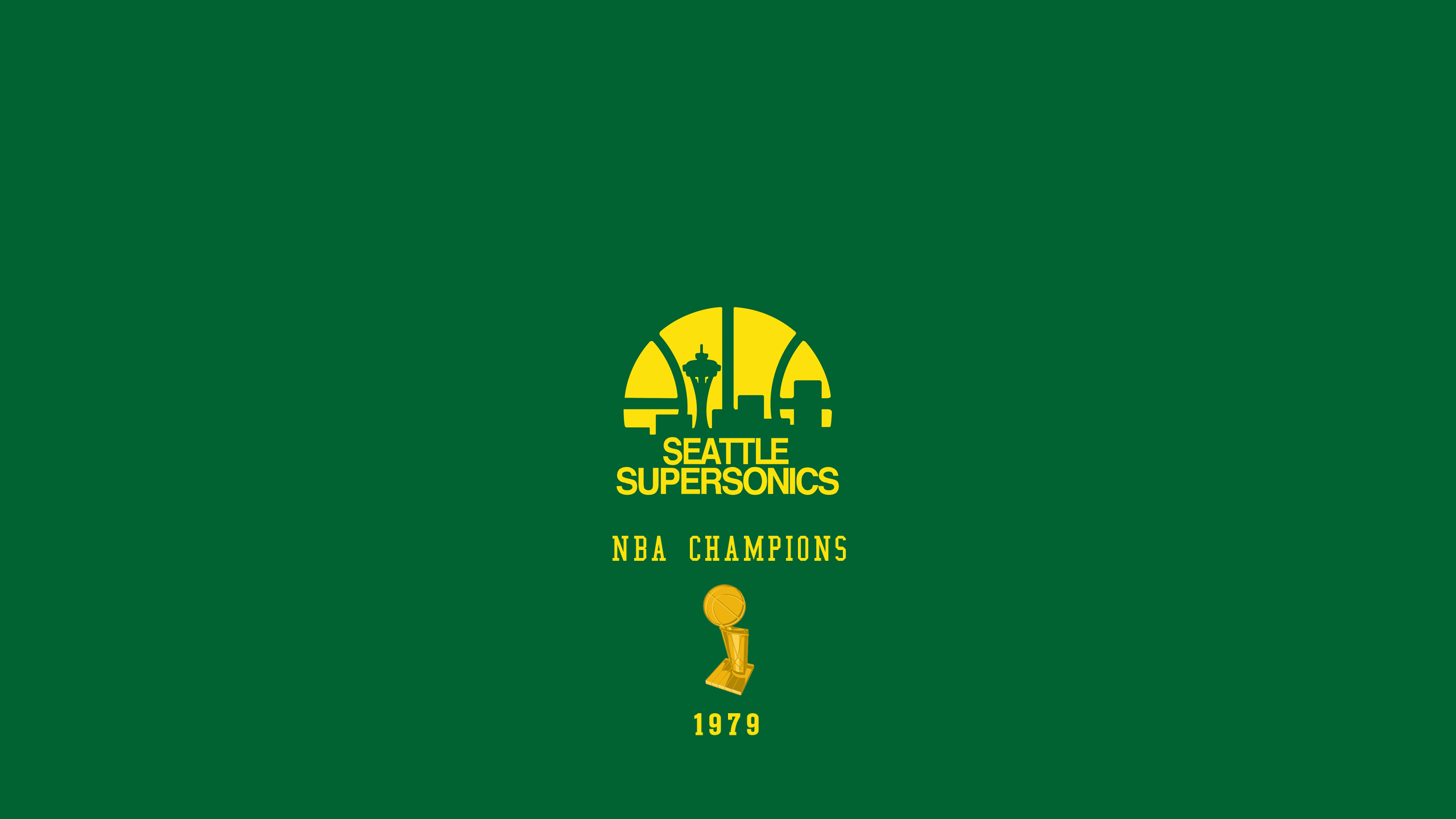 Seattle Supersonics - NBA Champs