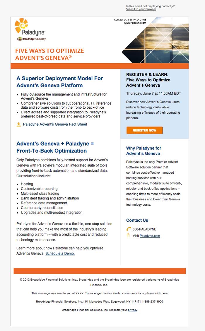 Paladyne Email (Broadridge Subsidiary)