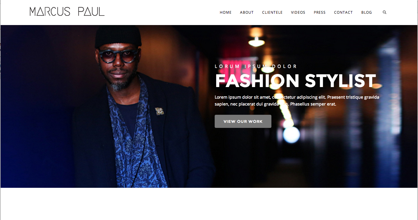 Marcus Paul Homepage Concept