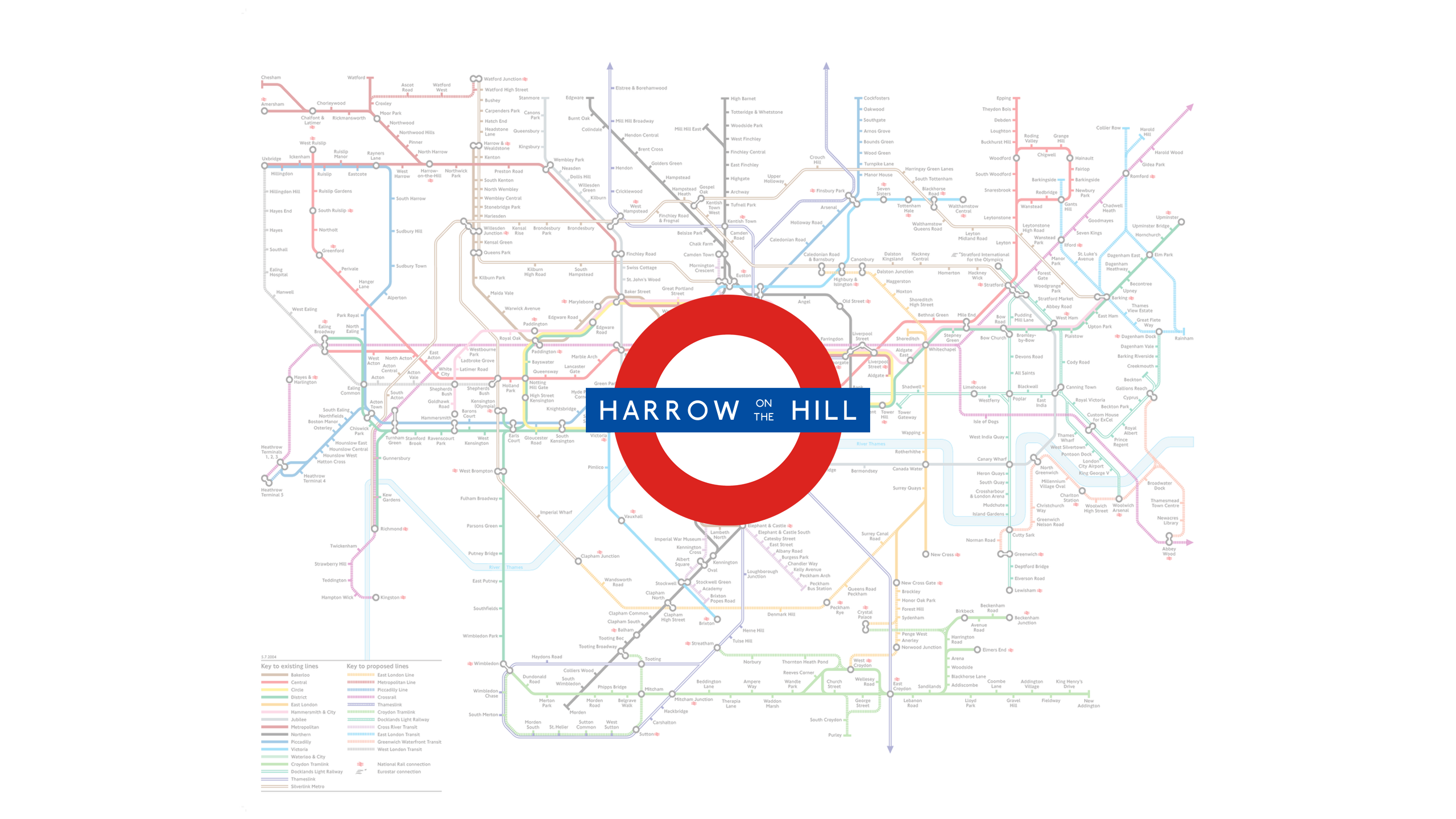 Harrow On The Hill (Map)